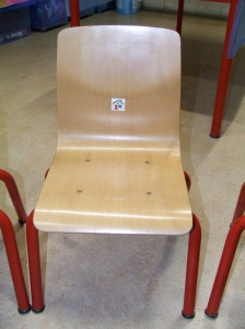 Bookkid's chair at school